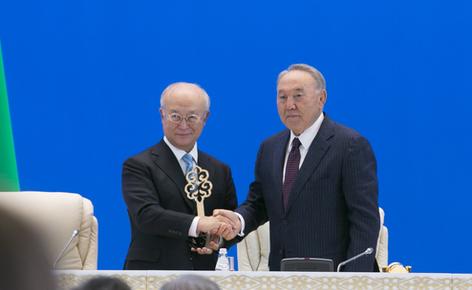Президент Казахстана открыл Банк низкообогащенного урана МАГАТЭ. фото Айбек Иманкожоев ©